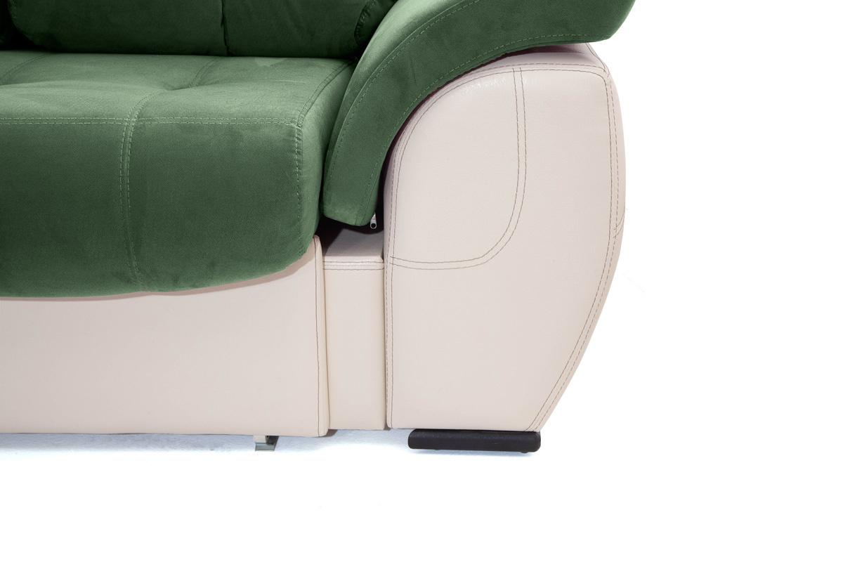 Двуспальный диван Соренто Amigo Green + Sontex Beige Ножки