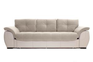 Прямой диван еврокнижка Соренто Amigo Cream + Sontex Beige Вид спереди