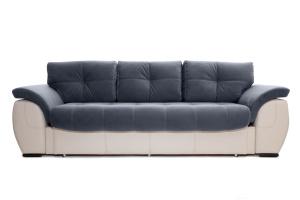Двуспальный диван Соренто Amigo Navy + Sontex Beige Вид спереди