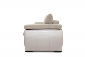 Прямой диван еврокнижка Соренто Amigo Cream + Sontex Beige Вид сбоку