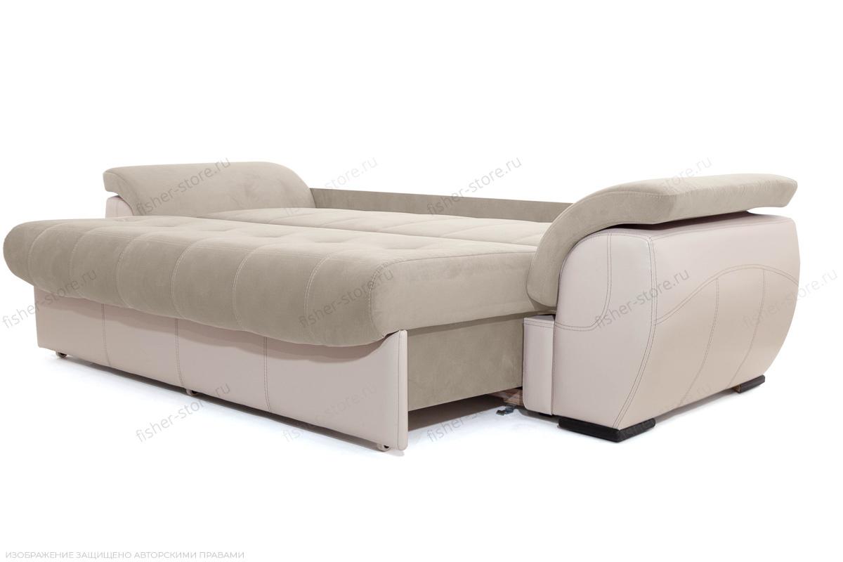 Прямой диван еврокнижка Соренто Amigo Cream + Sontex Beige Спальное место