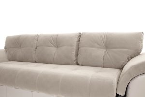 Прямой диван еврокнижка Соренто Amigo Cream + Sontex Beige Подушки