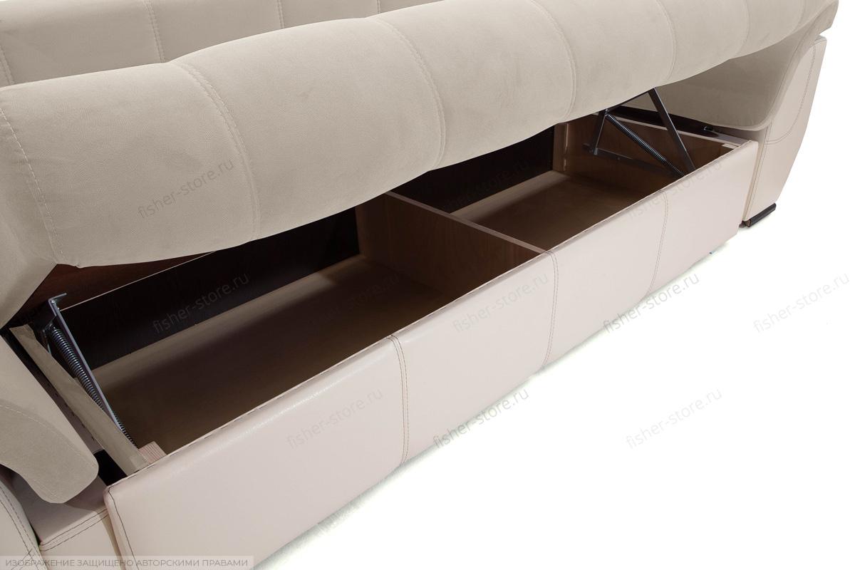 Прямой диван еврокнижка Соренто Amigo Cream + Sontex Beige Ящик для белья