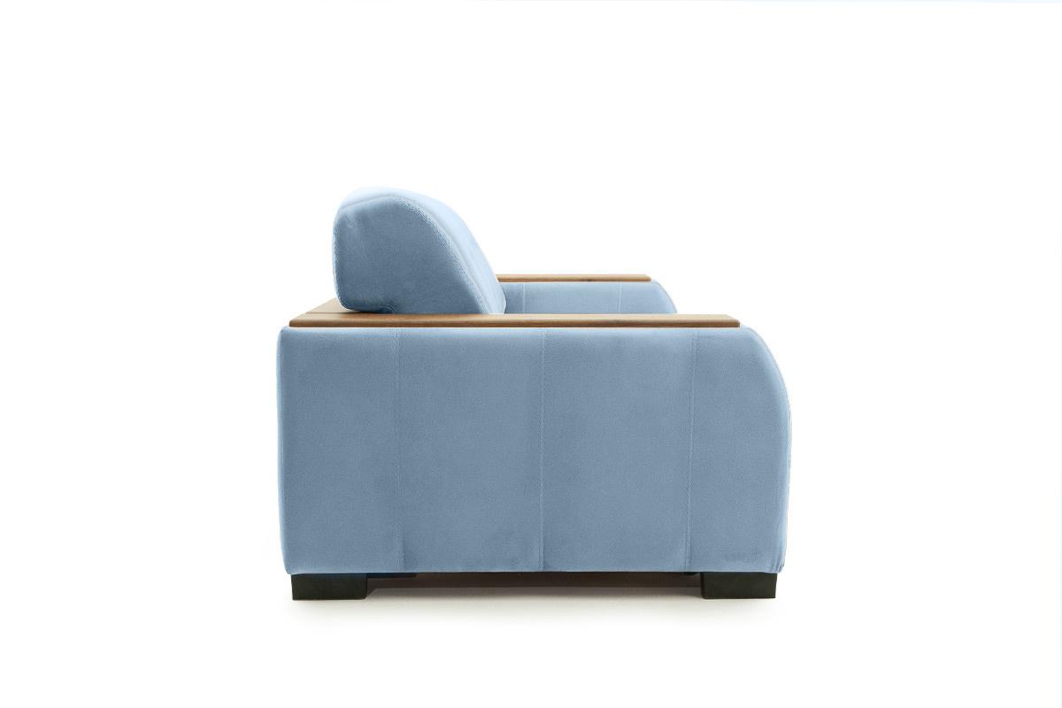 Прямой диван Берлин-2 Amigo Blue Вид сбоку
