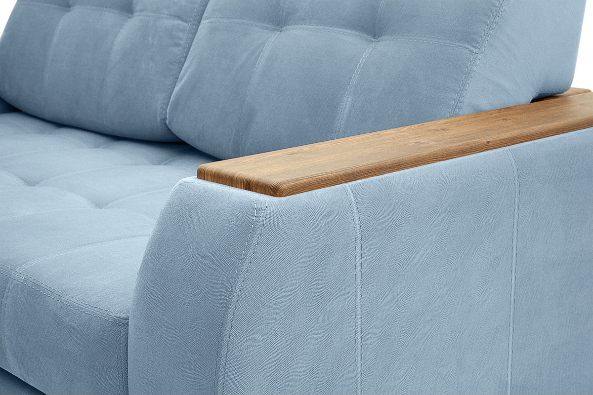 Прямой диван Берлин-2 Amigo Blue Подлокотник
