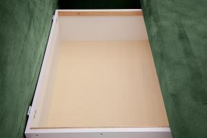 Прямой диван еврокнижка Сава Amigo Green Ящик для белья