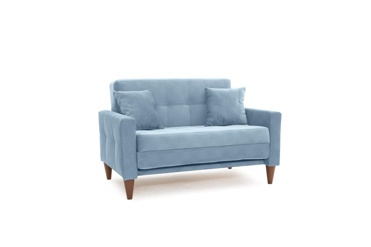 Диван Этро люкс с опорой №5 Amigo Blue Вид по диагонали