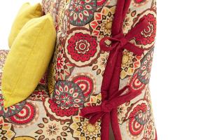Прямой диван Флора (120) Текстура ткани