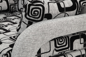 Прямой диван со спальным местом Чунга Текстура ткани