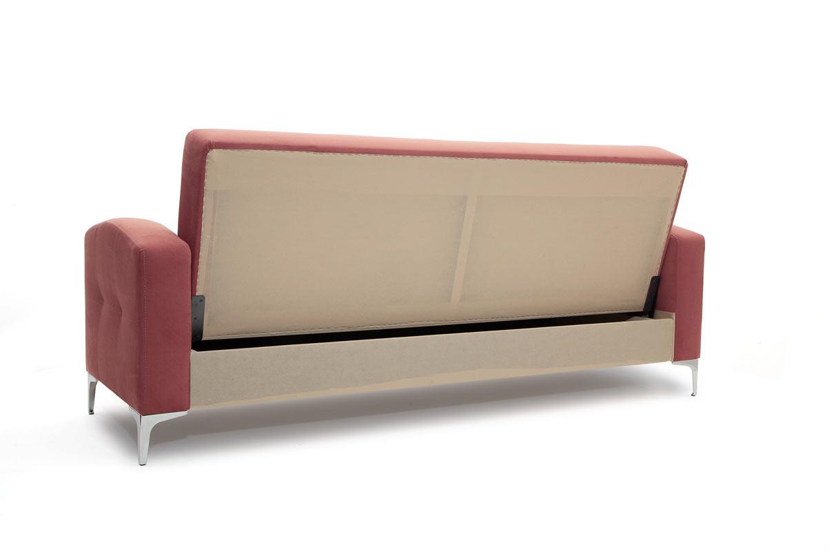 Прямой диван кровать Оскар с опорой №9 Вид сзади