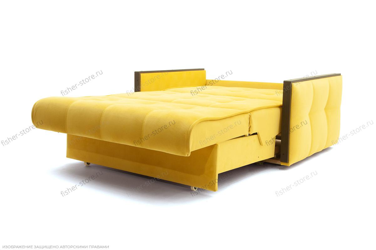 Прямой диван со спальным местом Аккорд-7 с накладками МДФ  Спальное место