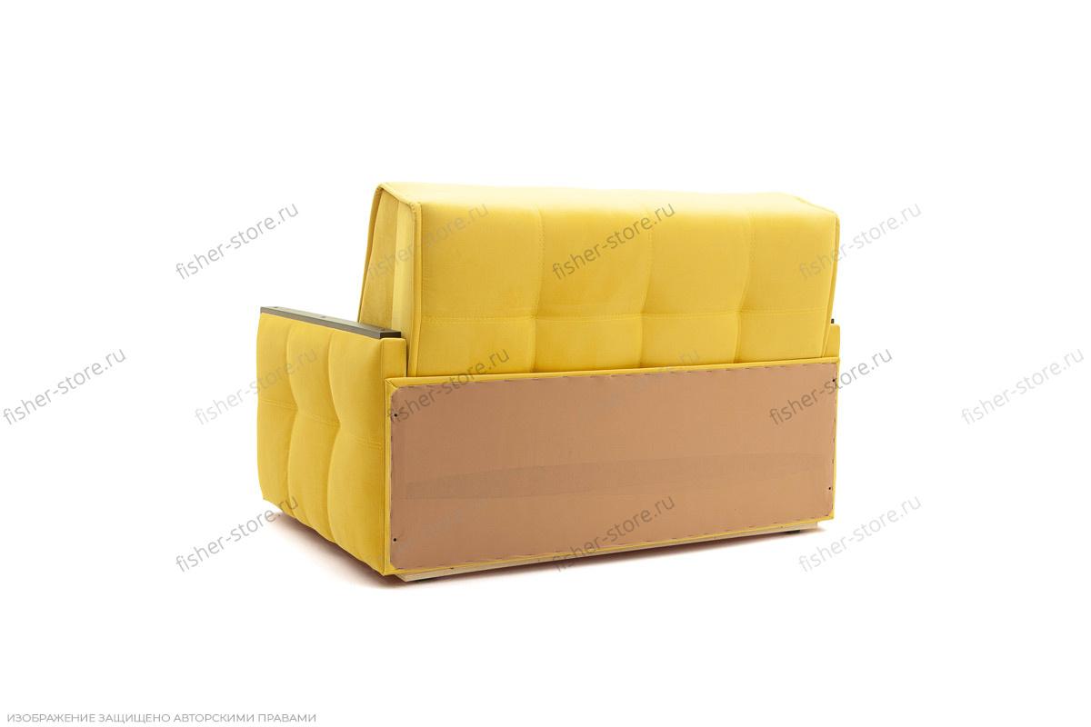 Прямой диван со спальным местом Аккорд-7 с накладками МДФ  Вид сзади