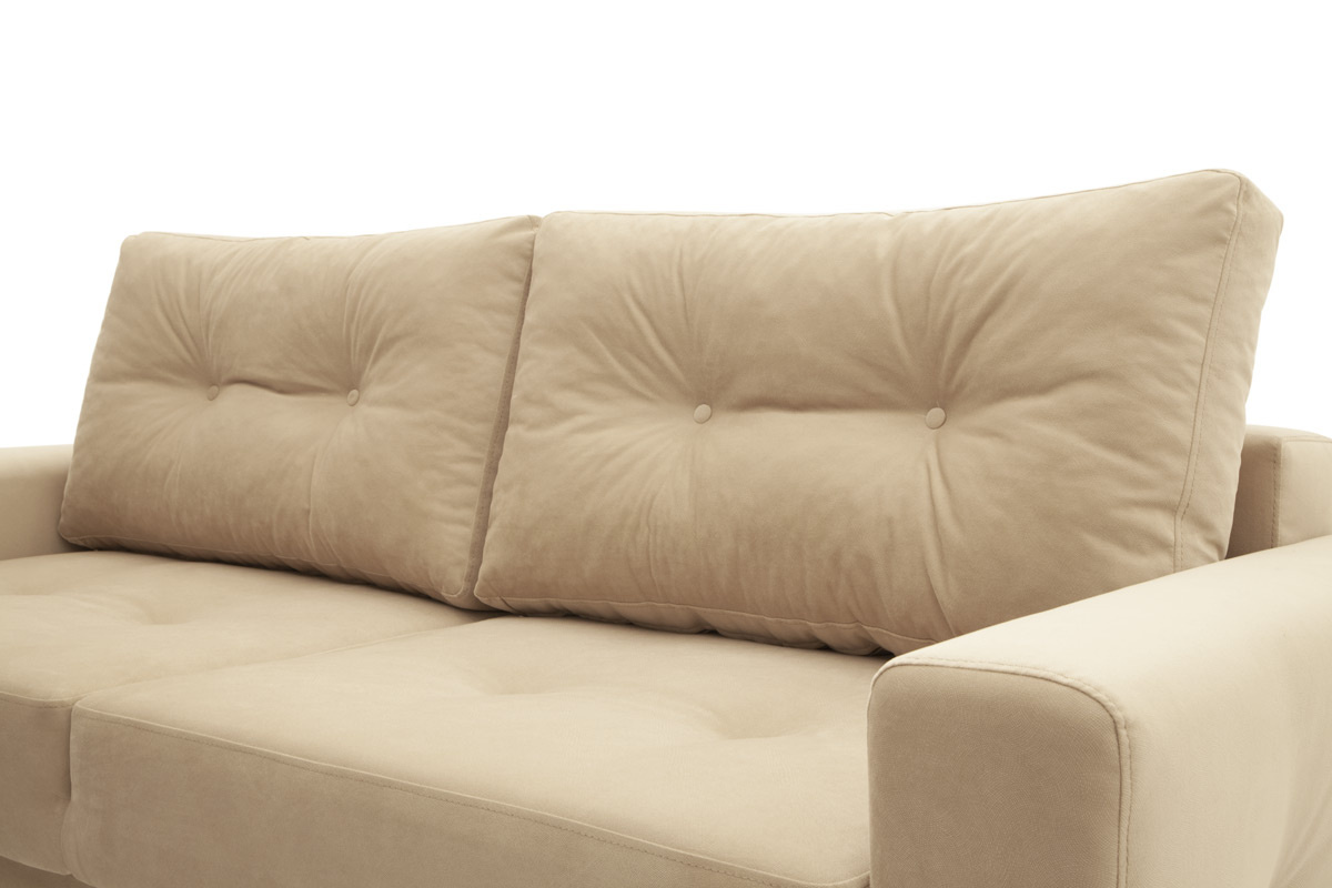 Прямой диван еврокнижка Джерси-6 с опорой №7 Подушки