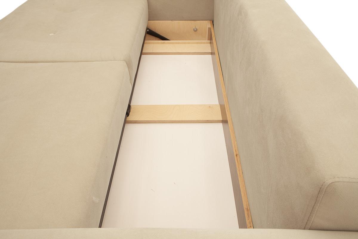 Прямой диван еврокнижка Джерси-6 с опорой №7 Ящик для белья