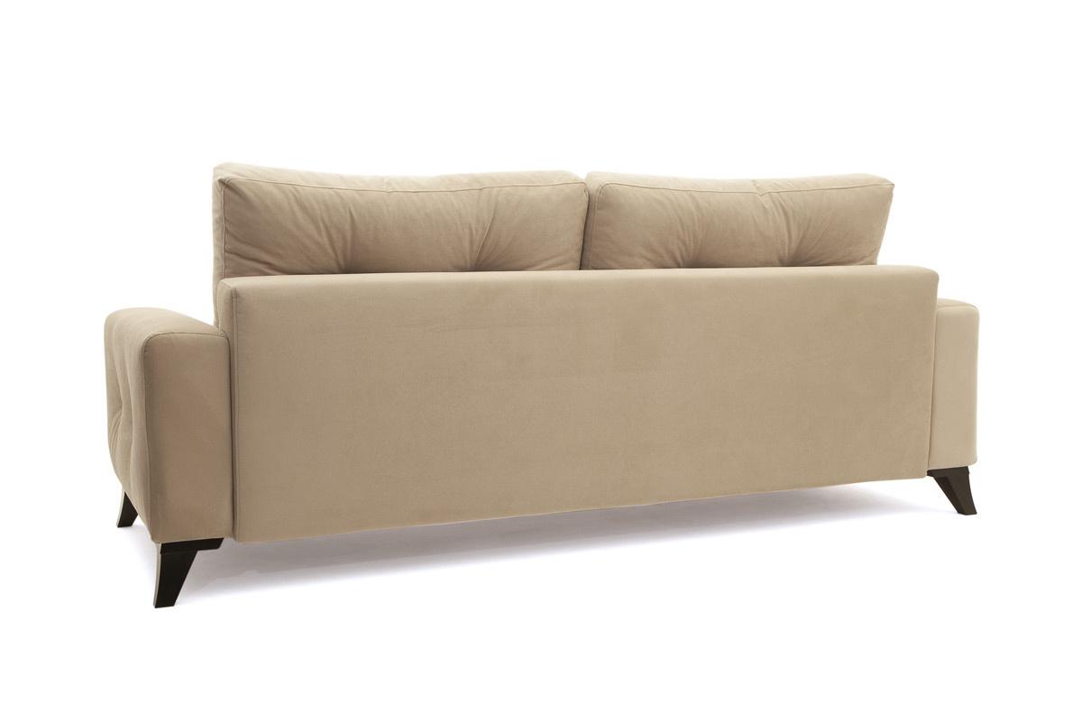 Прямой диван еврокнижка Джерси-6 с опорой №7 Вид сзади