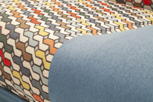 Синий диван Дрим Текстура ткани