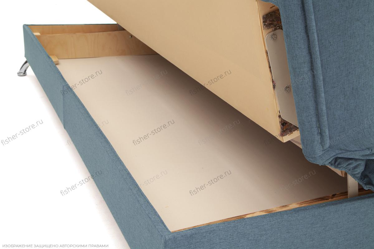 Синий диван Дрим Ящик для белья