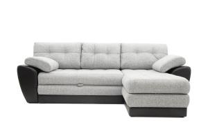 Серый угловой диван Император-2 Вид спереди
