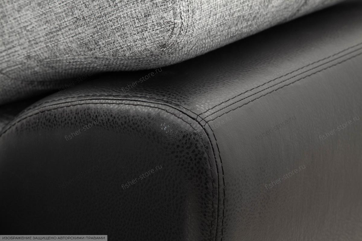 Серый угловой диван Император-2 Текстура ткани