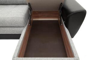 Серый угловой диван Император-2 Ящик для белья