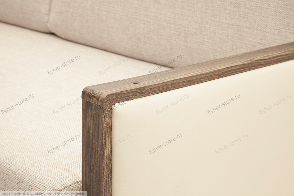 Офисный диван Джексон с накладками МДФ Подлокотник