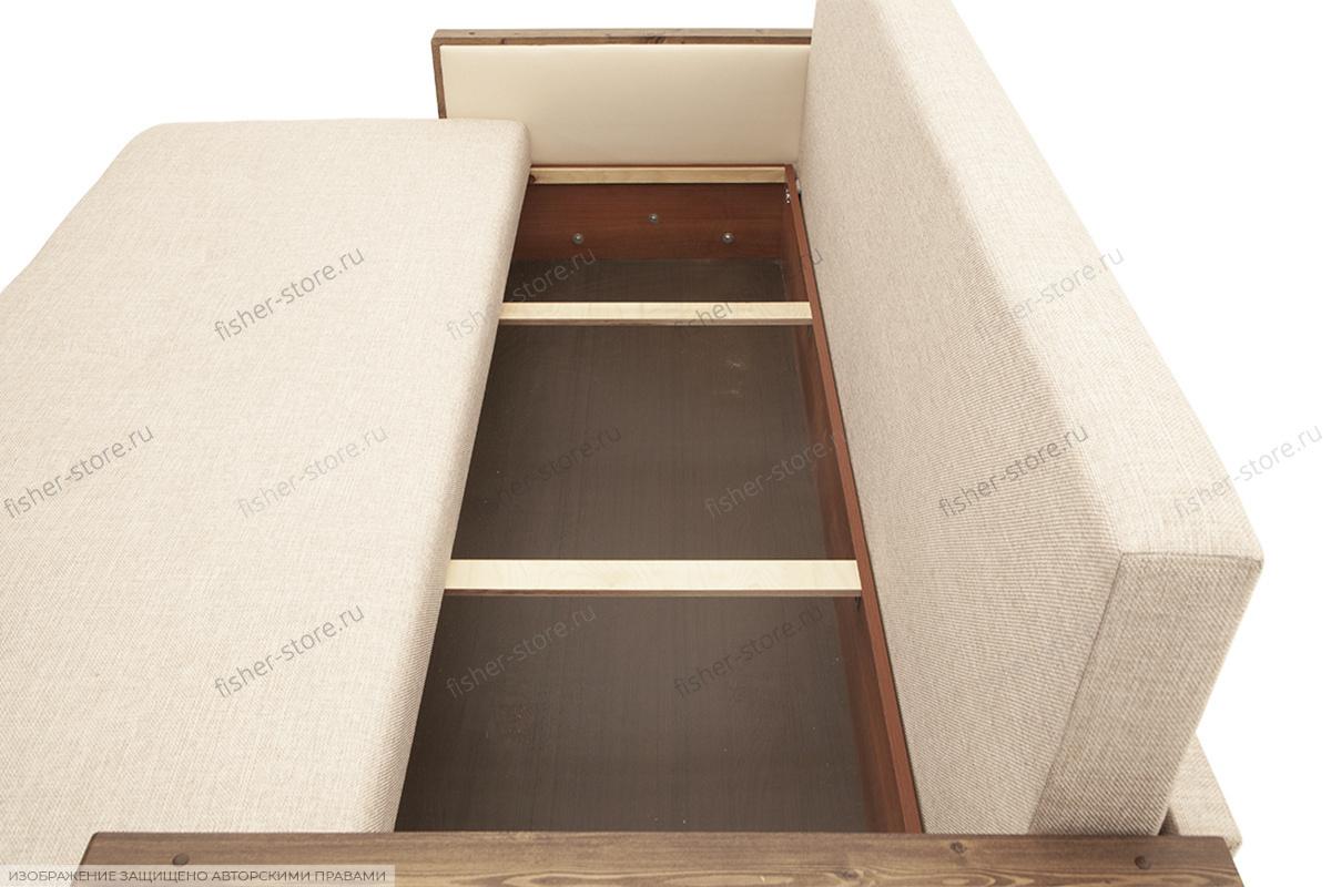 Прямой диван со спальным местом Джексон с накладками МДФ Ящик для белья