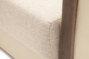 Прямой диван со спальным местом Джексон с накладками МДФ Текстура ткани