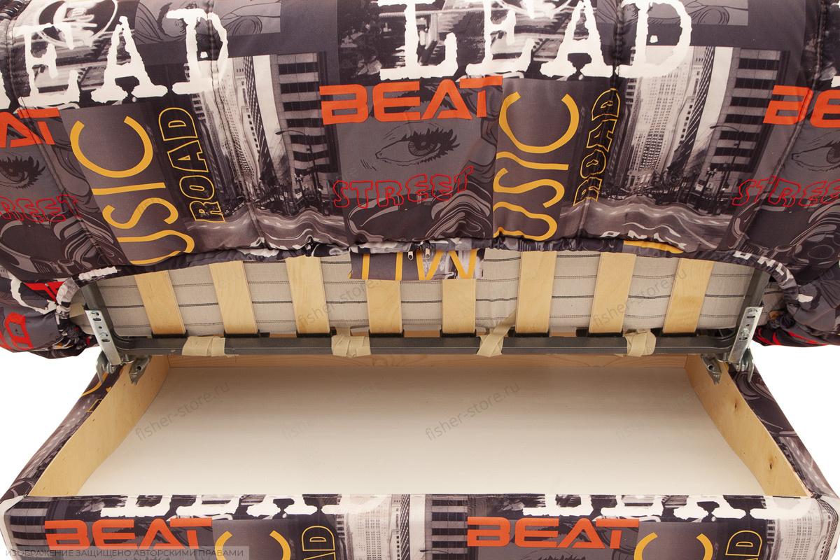 Двуспальный диван Самурай с опорой №3 Ящик для белья