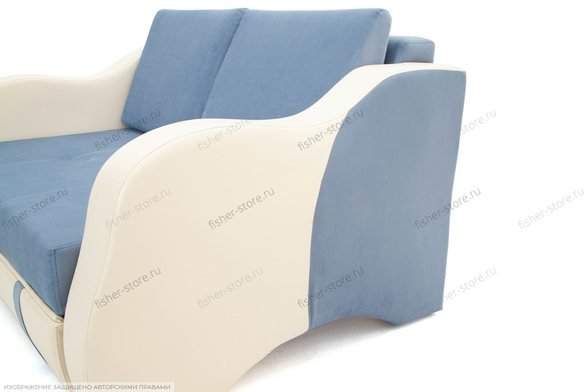 Синий диван Вико Подлокотник