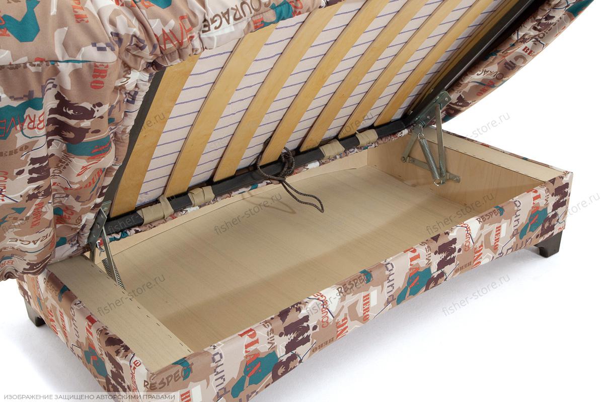Прямой диван со спальным местом Элис с опорой №1 Ящик для белья