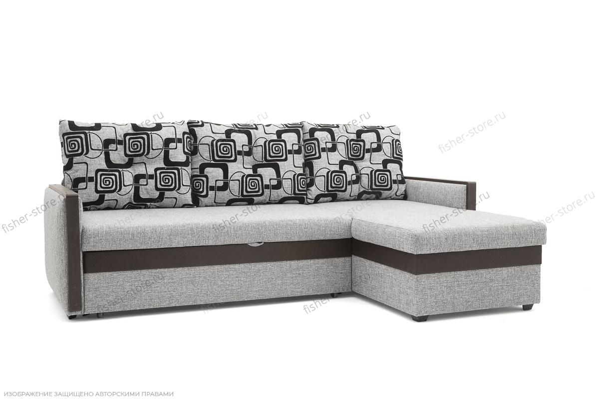 Офисный диван Джексон с накладками МДФ Вид по диагонали