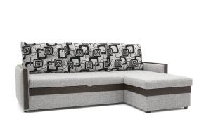 Угловой диван Джексон с накладками МДФ Вид по диагонали