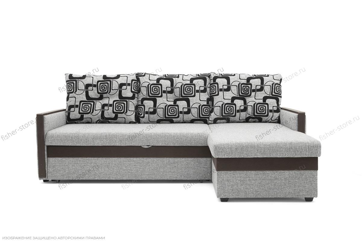 Угловой диван Джексон с накладками МДФ Вид спереди