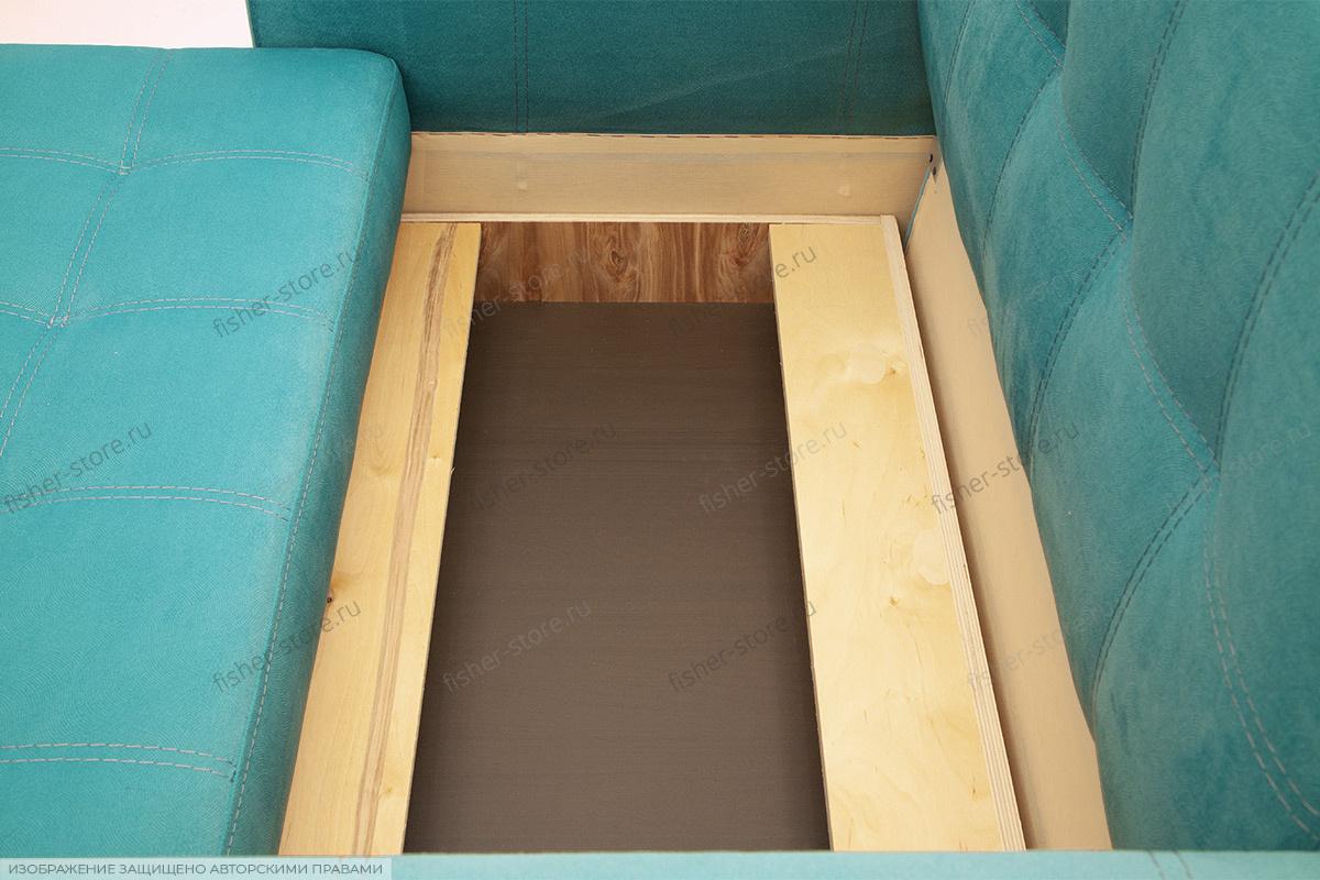 Прямой диван Этро люкс с опорой №1 Ящик для белья