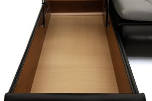 Серый угловой диван Модерн Ящик для белья