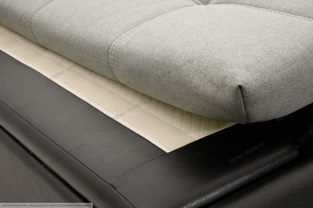 Серый угловой диван Модерн Текстура ткани