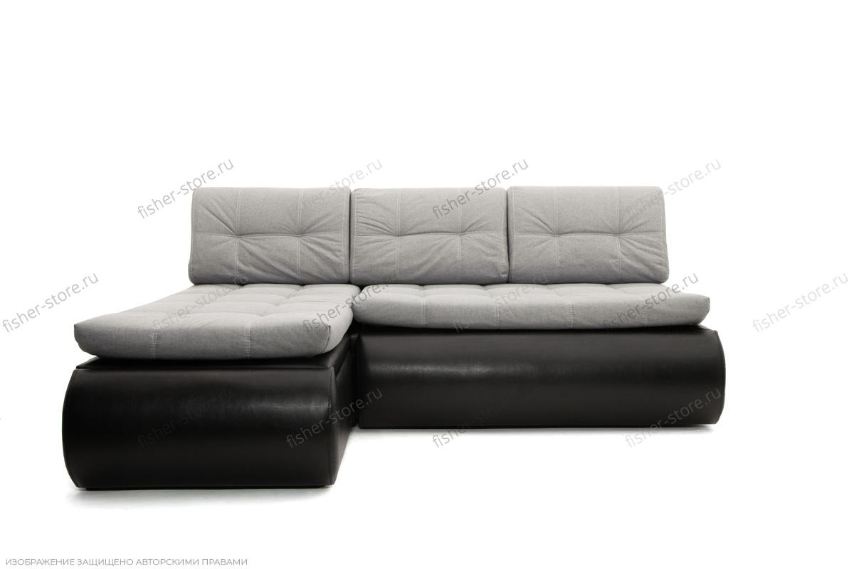 Серый угловой диван Модерн Вид спереди