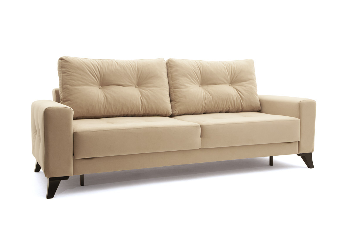 Прямой диван еврокнижка Джерси-6 с опорой №7 Вид по диагонали
