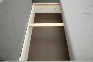 Серый угловой диван Маркиз Ящик для белья