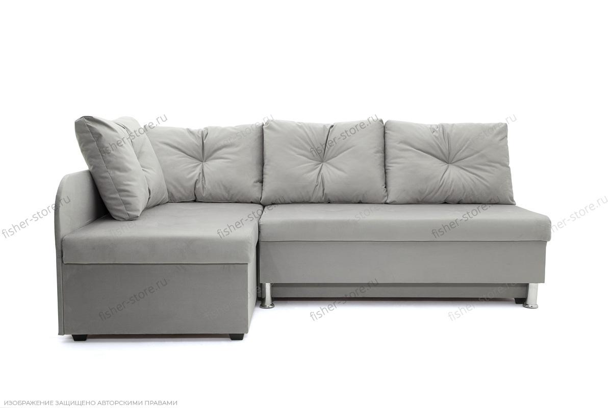 Серый угловой диван Бруно Вид спереди