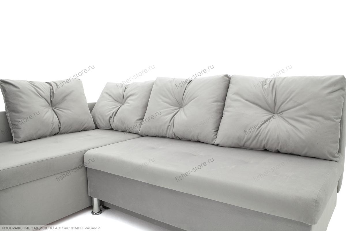 Серый угловой диван Бруно Подушки