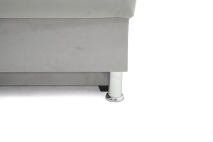Серый угловой диван Бруно Ножки