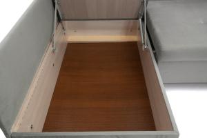 Серый угловой диван Бруно Ящик для белья