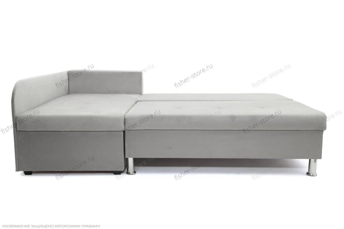 Серый угловой диван Бруно Спальное место