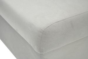 Серый угловой диван Бруно Текстура ткани
