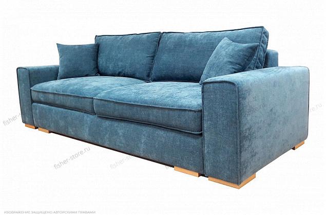 Синий диван Нарвик MФ (Furny) Вид по диагонали