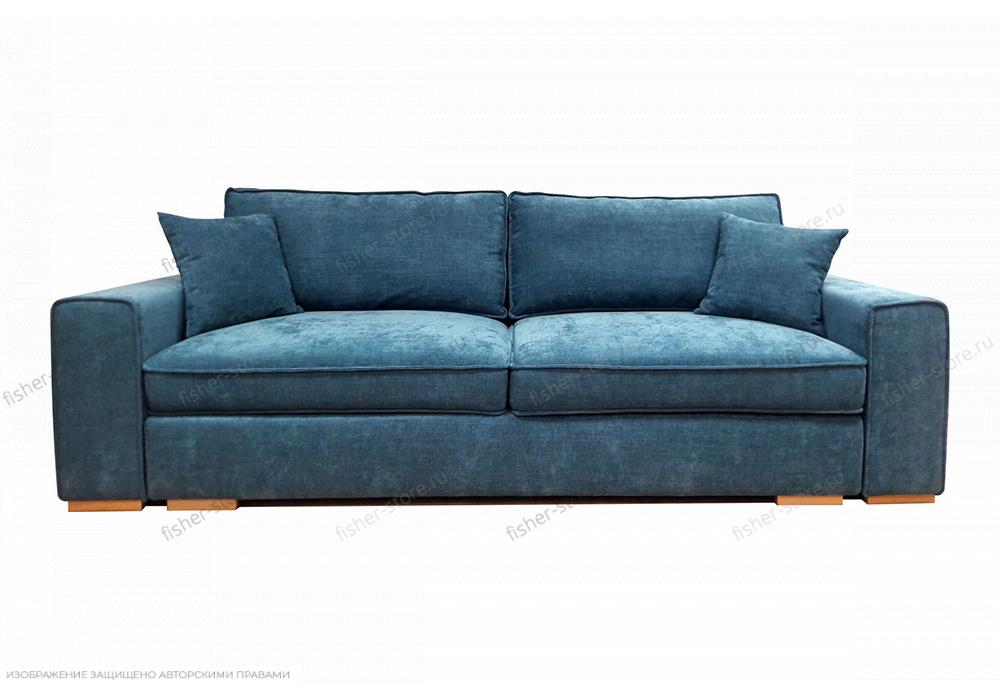 Синий диван Нарвик MФ (Furny) Вид спереди
