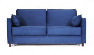 Синий диван Глен MФ (Furny) Вид спереди