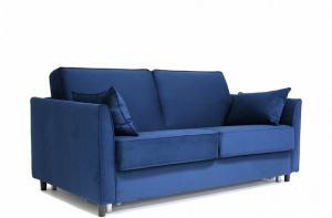 Синий диван Глен MФ (Furny) Вид по диагонали