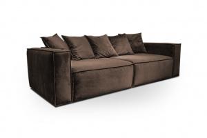 Прямой диван еврокнижка Софт MФ (Fiesta) Вид по диагонали